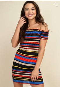 Fall Stripes!  Body Con Dress