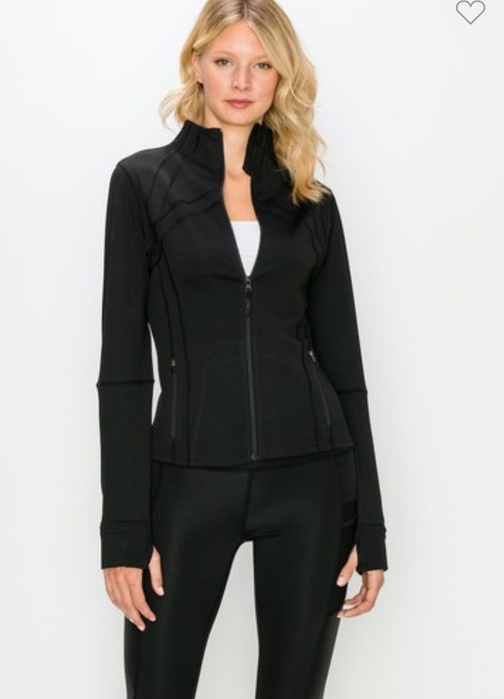 Athleisure Full Zip-Up Jacket-Black