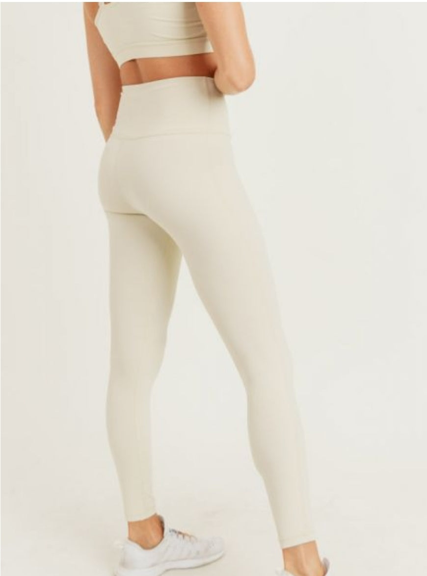 Athleisure Performance Highwaist Leggings-Natural