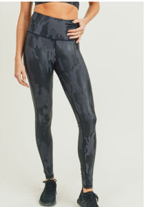 Athleisure Camo Foil Highwaisted Leggings
