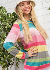 Spring 21 Striped Colorful Top