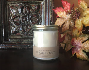 Caramel Nut- Hand Poured Soy Candle