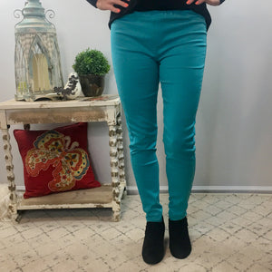 Turquoise Jewel Jeggings