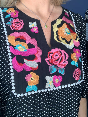 Wallflower - Floral Embroidery Top