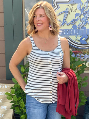Out and About - Striped Tank Top