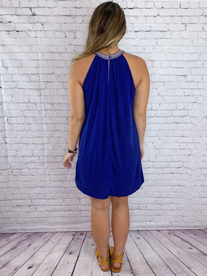 Sea Side - Royal Blue Sundress