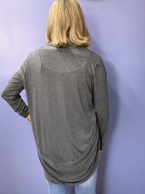 Point of View - Lightweight Cardigan / Charcoal