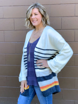 Morning Rush - Striped Cardigan