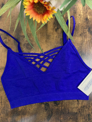 Stephanie - Denim Blue Bralette