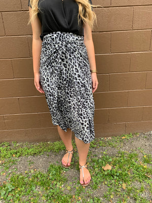 Beautiful You - Animal Print Midi Skirt