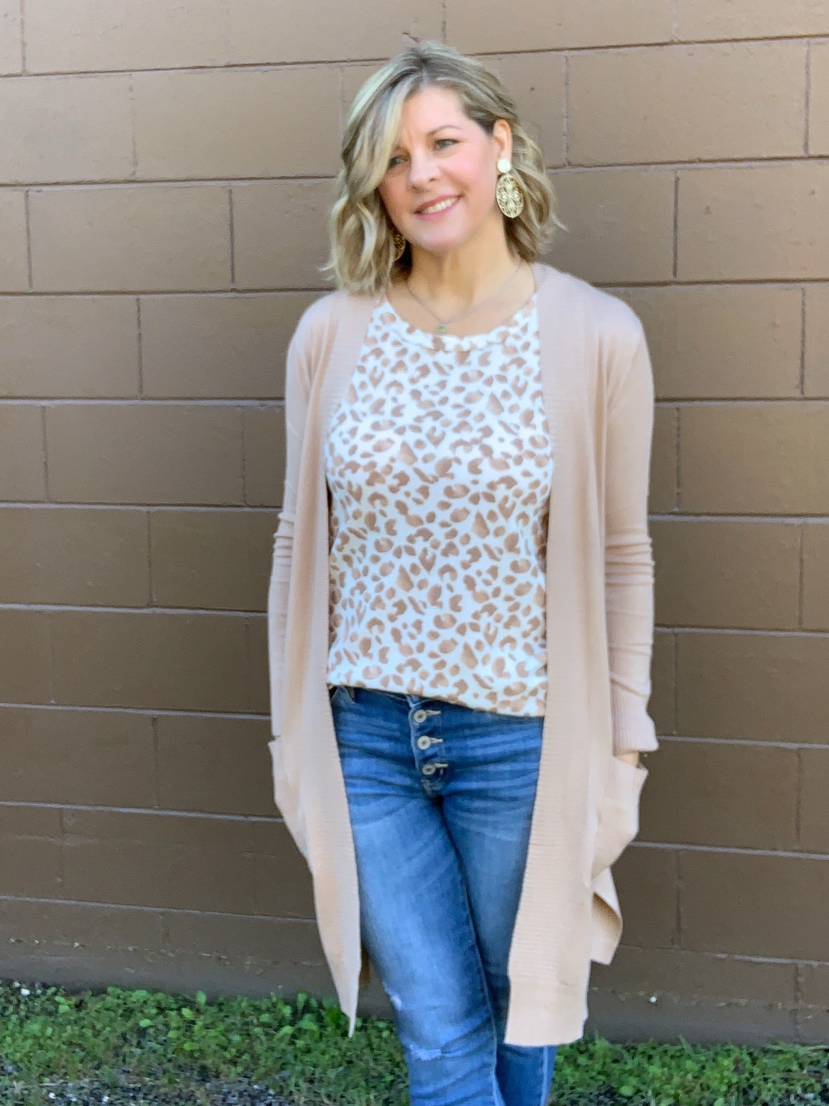 Leading Lady - Taupe Cardigan Sweater