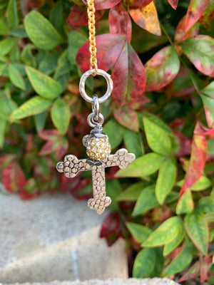 Good & Faithful - Two toned cross necklace