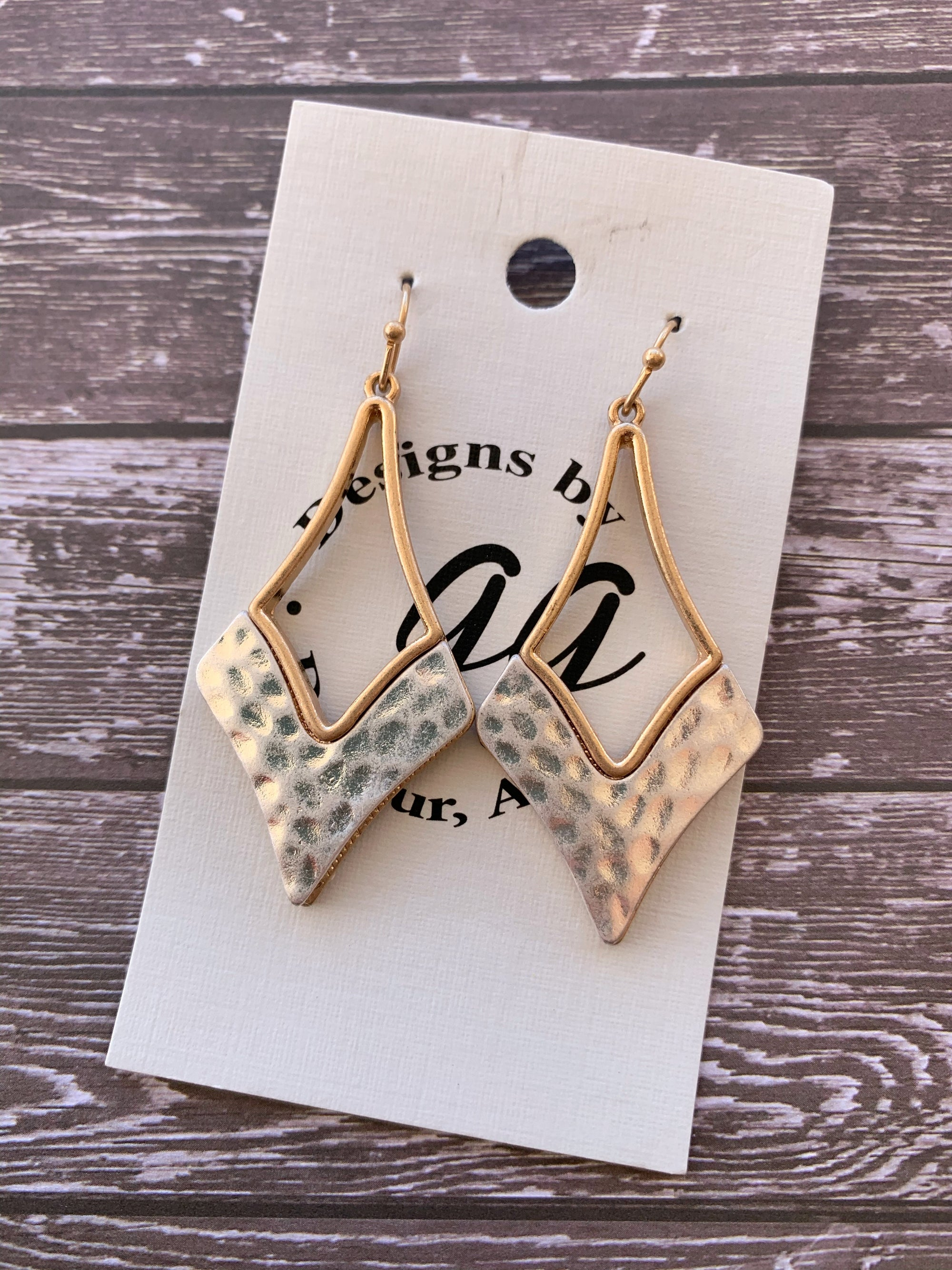Athena Gold & Silver Two Toned Earrings