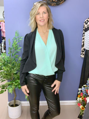 Social Butterfly - Black Peplum Jacket