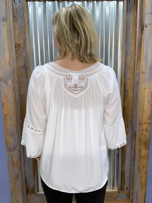 Welcome Home Lace Trim Top
