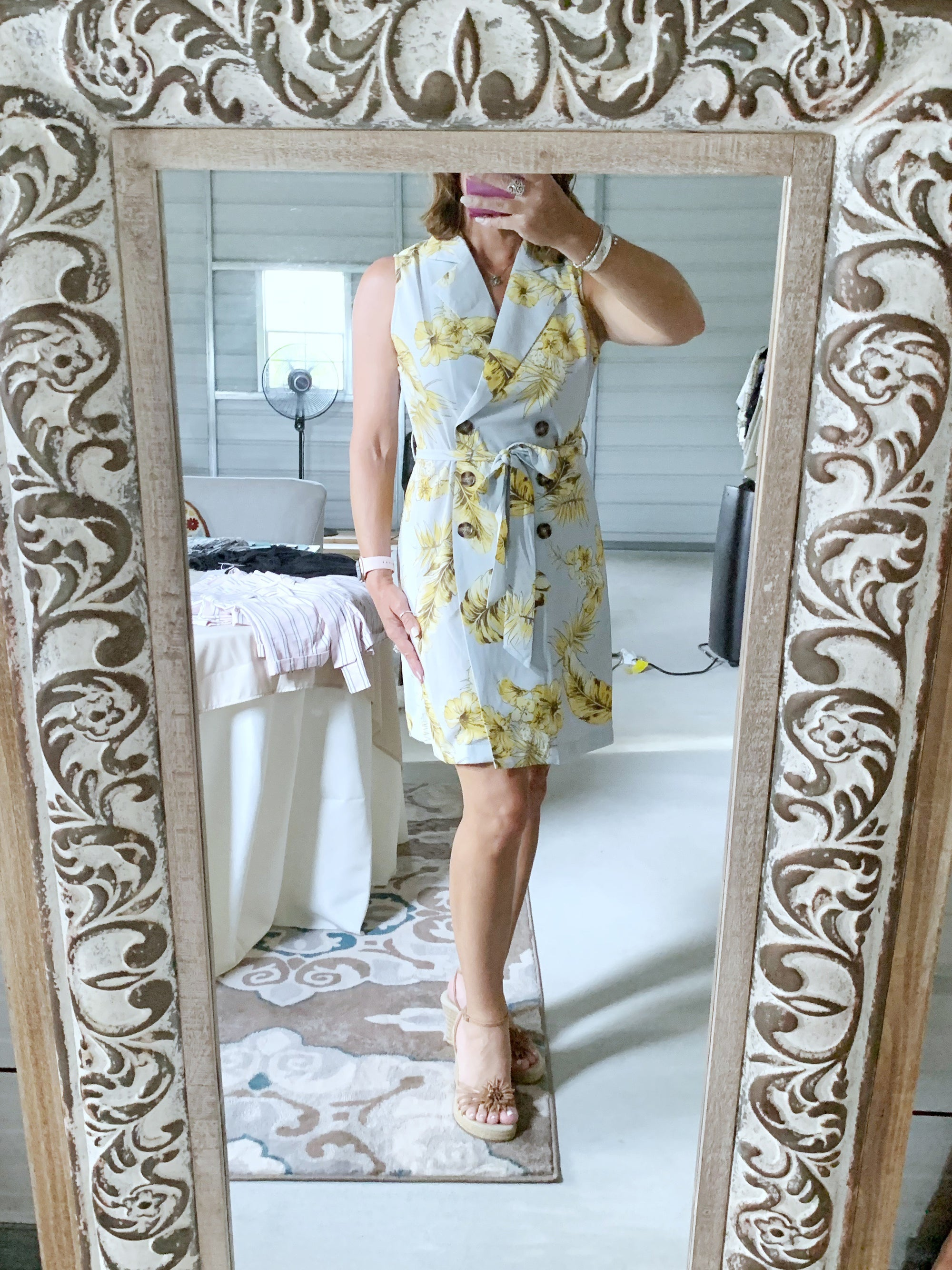English Garden - Floral Wrap Dress