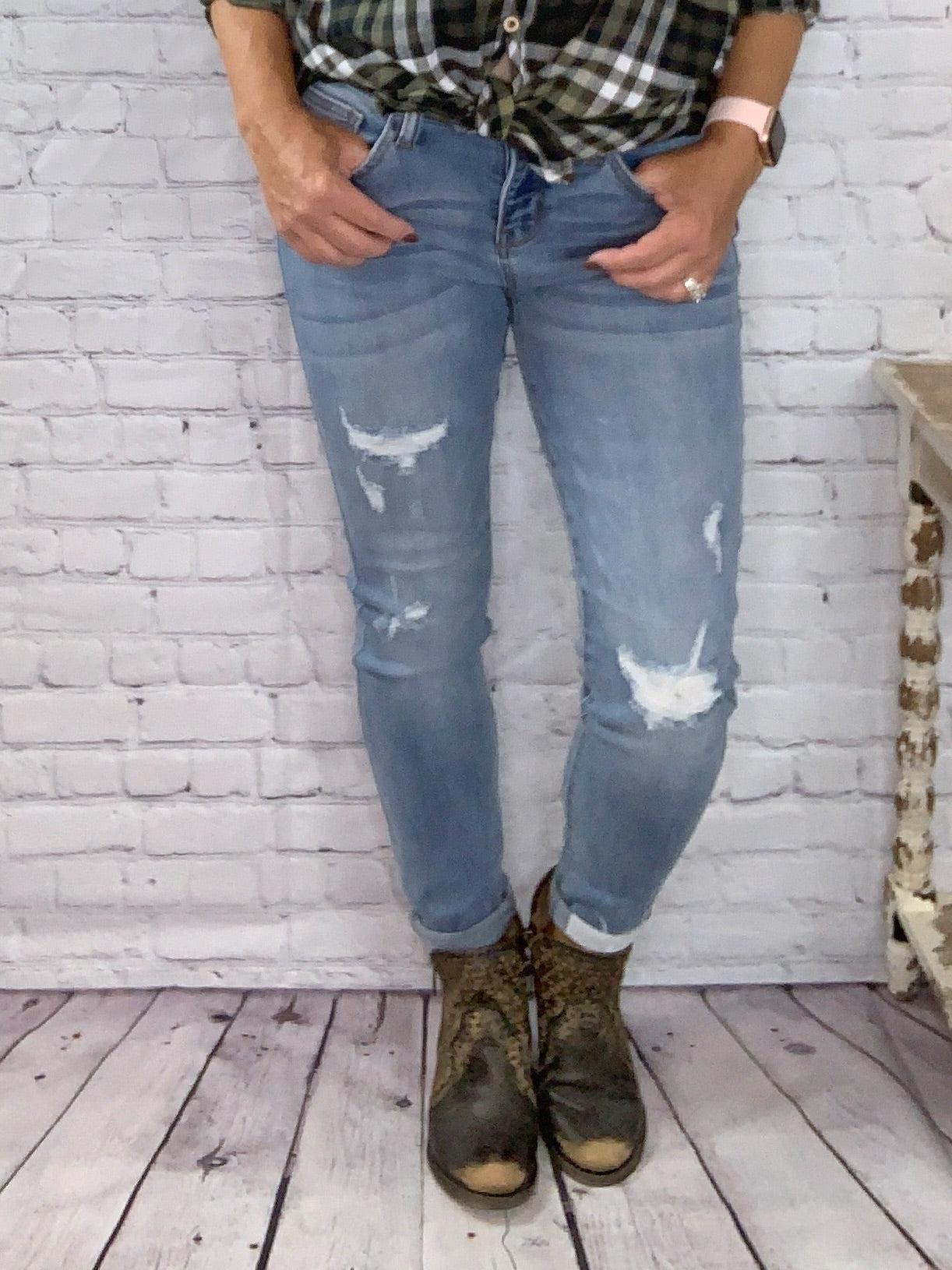 Hot Mess Jeans - Distressed Judy Blue Jeans