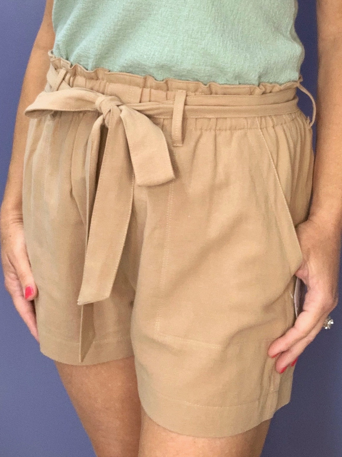 About Time - Taupe Shorts