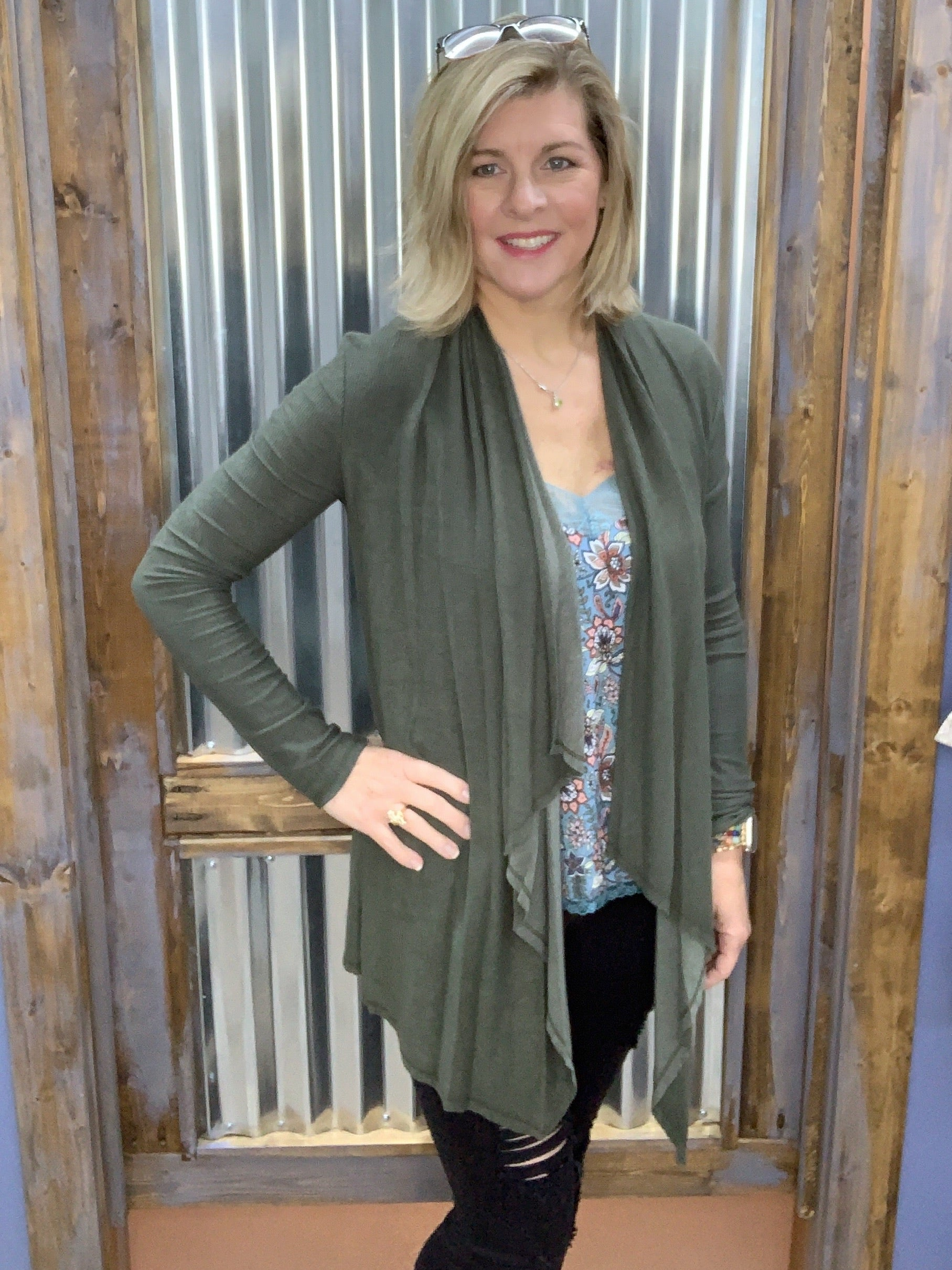 Fall Fling - Olive Cardigan