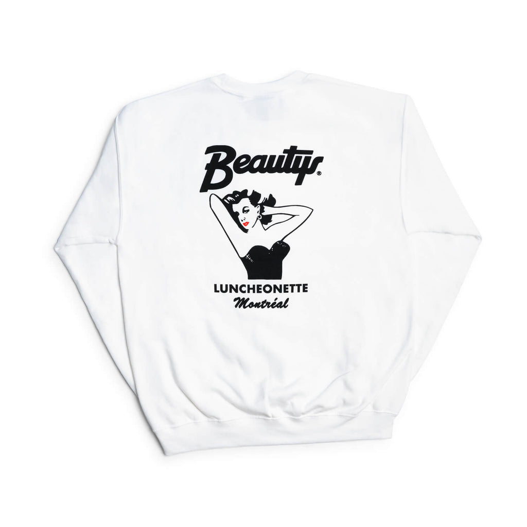 Beautys Crewneck Sweatshirt (White)