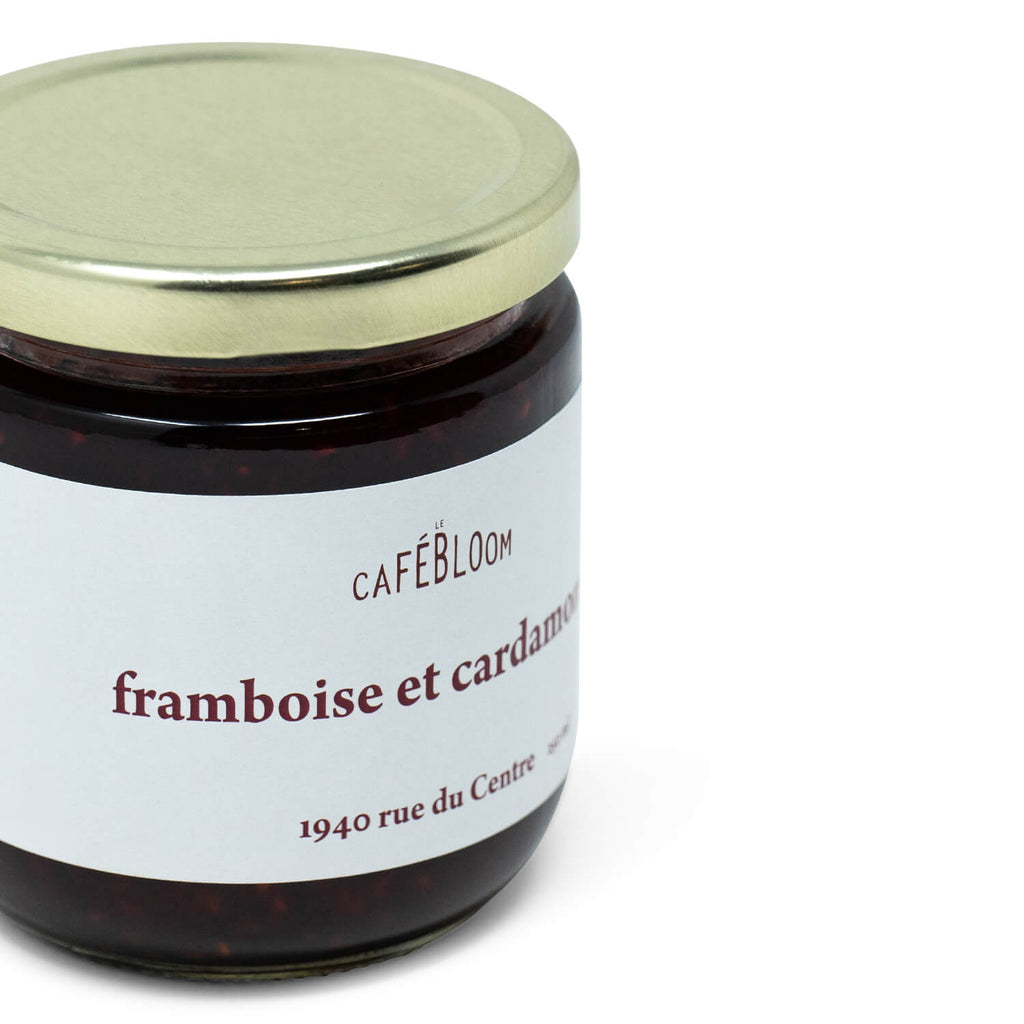 Confiture de Framboises et Cardamome Le Café Bloom (250ml)