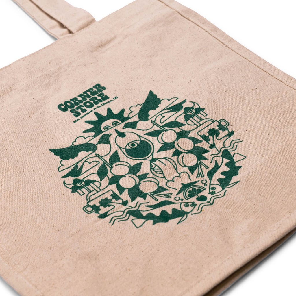 Corner Peach Tote Bag