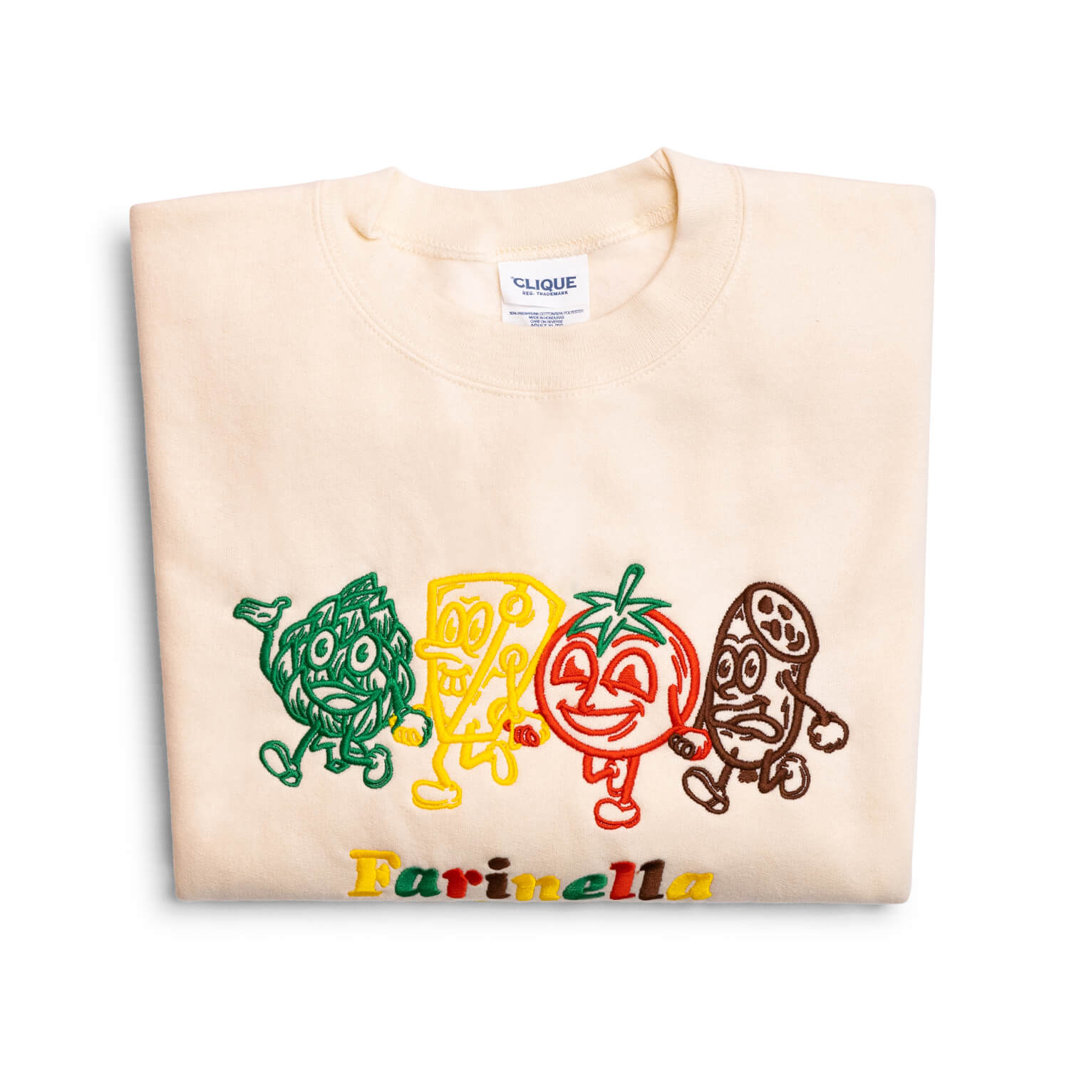"Farinella ""Feelin' Like A Snack"" Crewneck Sweatshirt (Cream)"