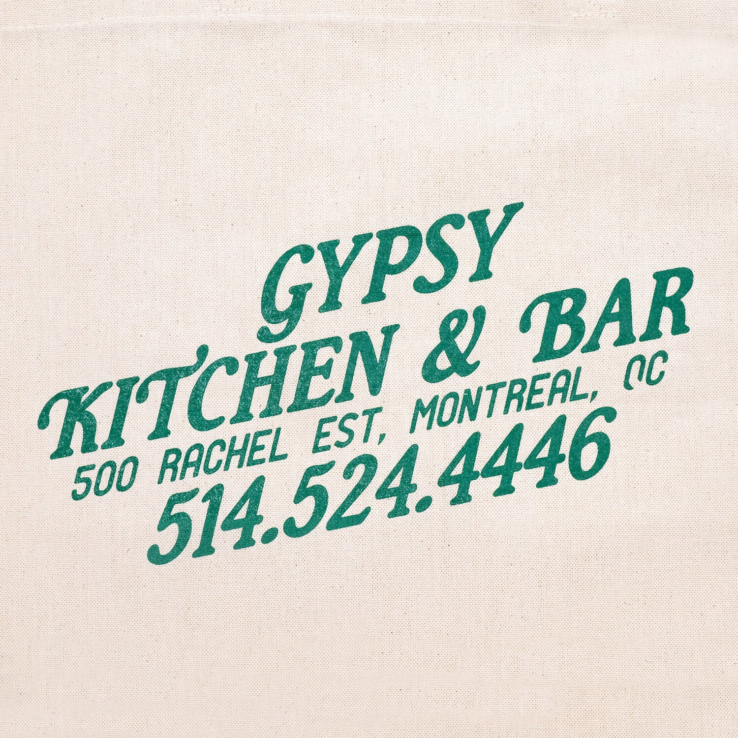 Gypsy Kitchen+Bar Tote Bag (Green)