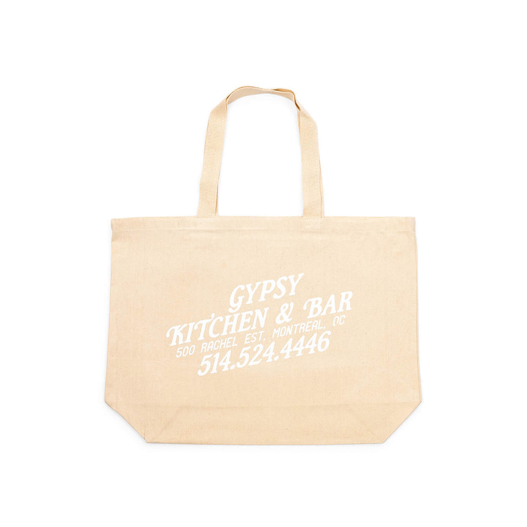 Sac d'Épicerie Gypsy Kitchen+Bar (White)