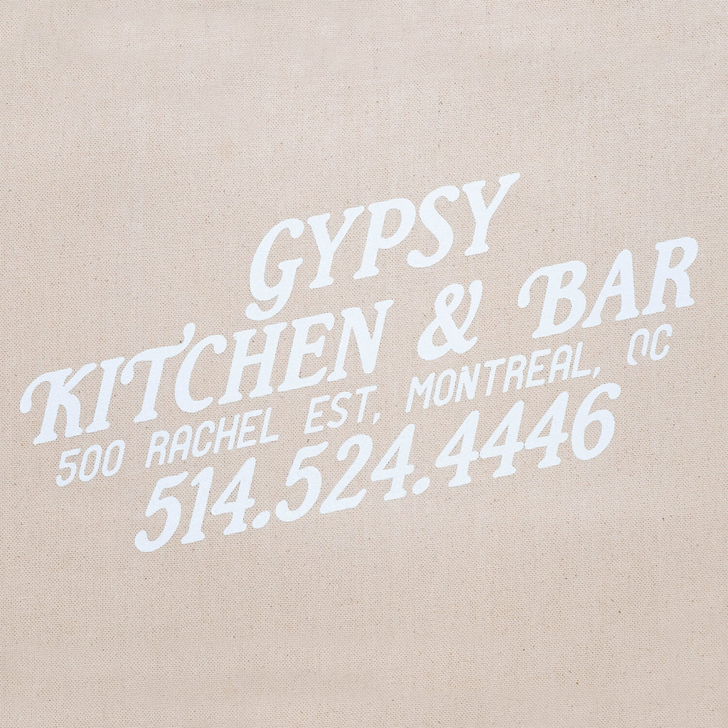 Gypsy Kitchen+Bar Tote Bag (White)