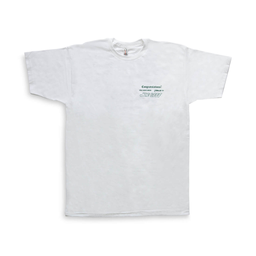 Joe Beef Congratulations T-Shirt (White/Green)