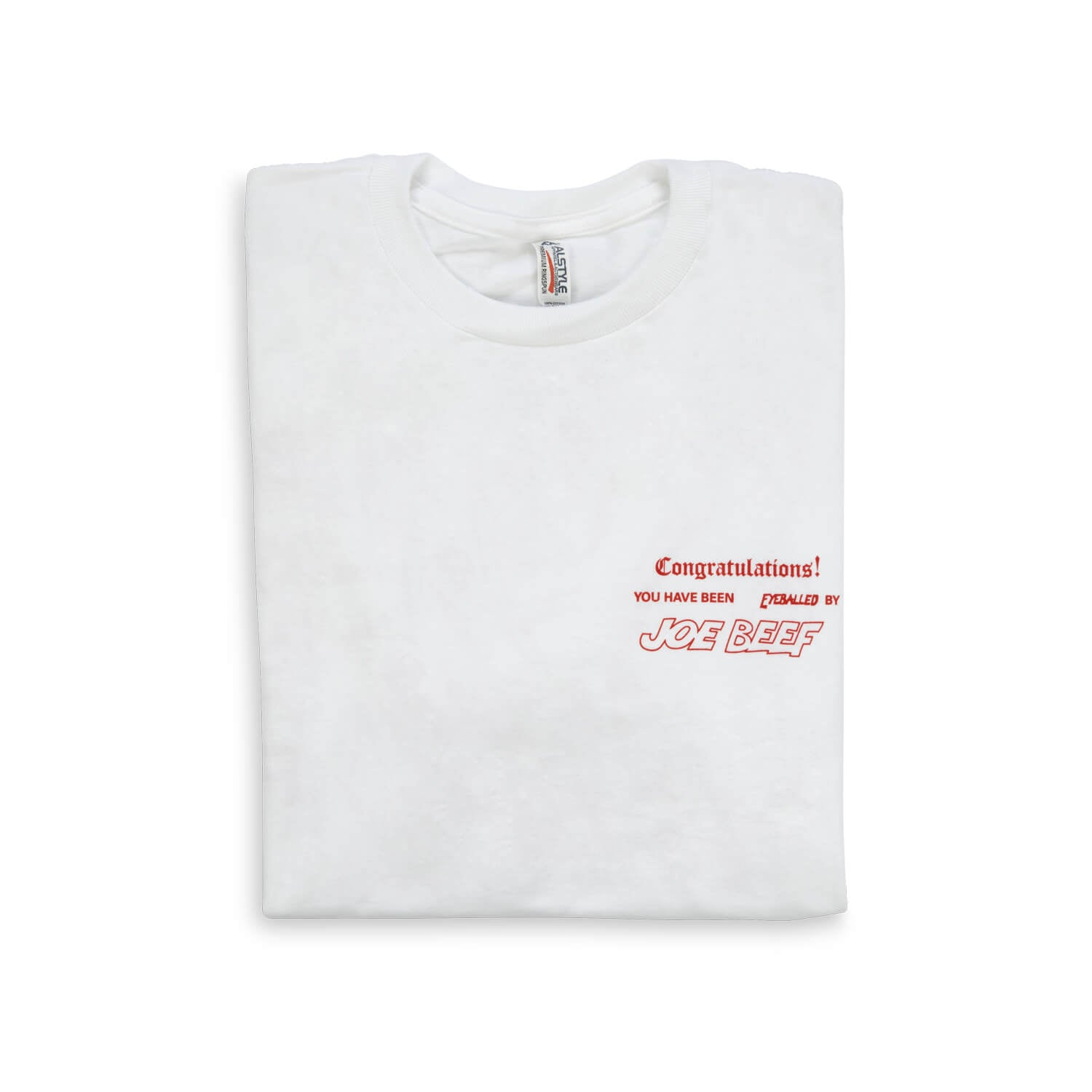 2eebf5849a81 Joe Beef Congratulations T-Shirt (White/Red)