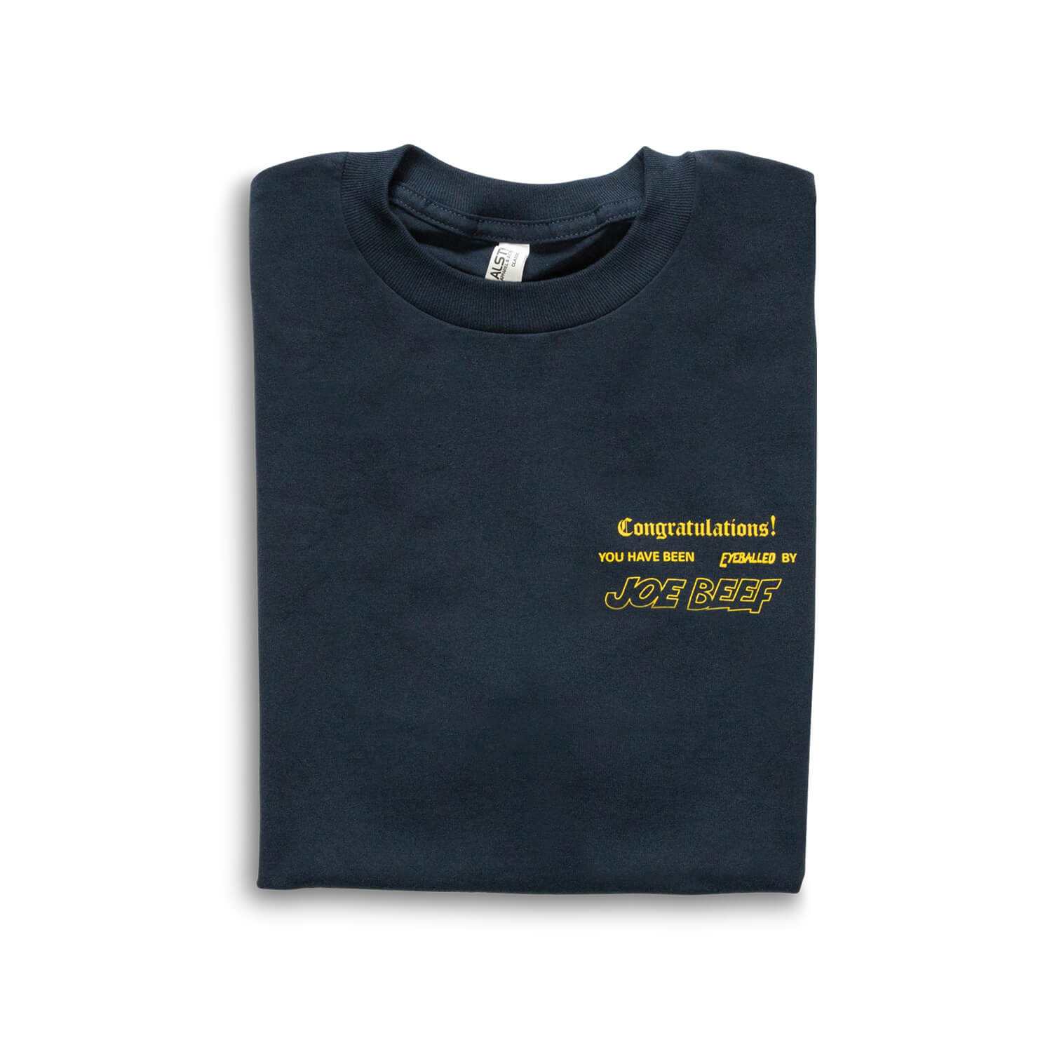 faf4a85bcad7 Joe Beef Congratulations T-Shirt (Navy/Yellow)