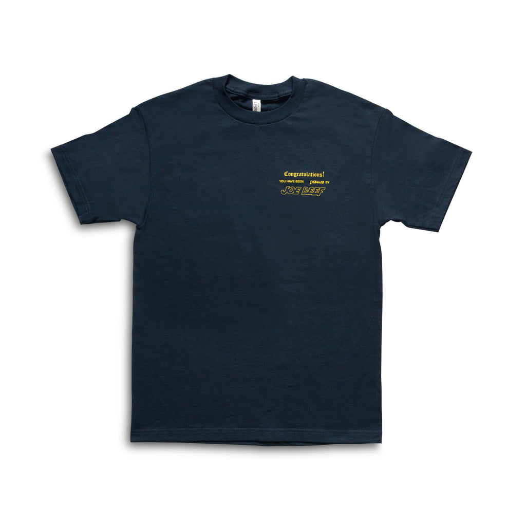Joe Beef Congratulations T-Shirt (Navy/Yellow)