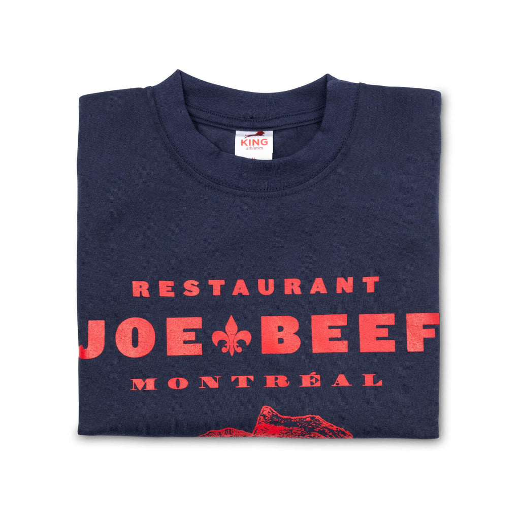 Joe Beef Oyster Bar T-Shirt (Navy/Red)