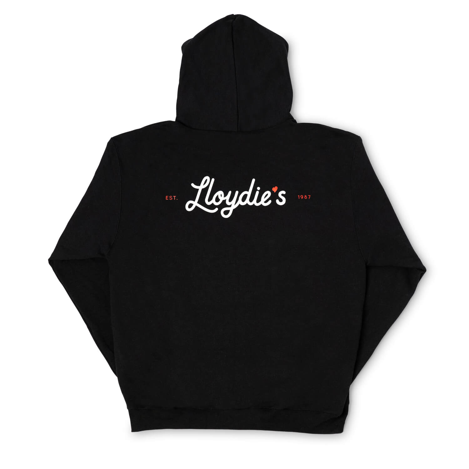 Lloydie's Heart Patch Hoodie (Black)