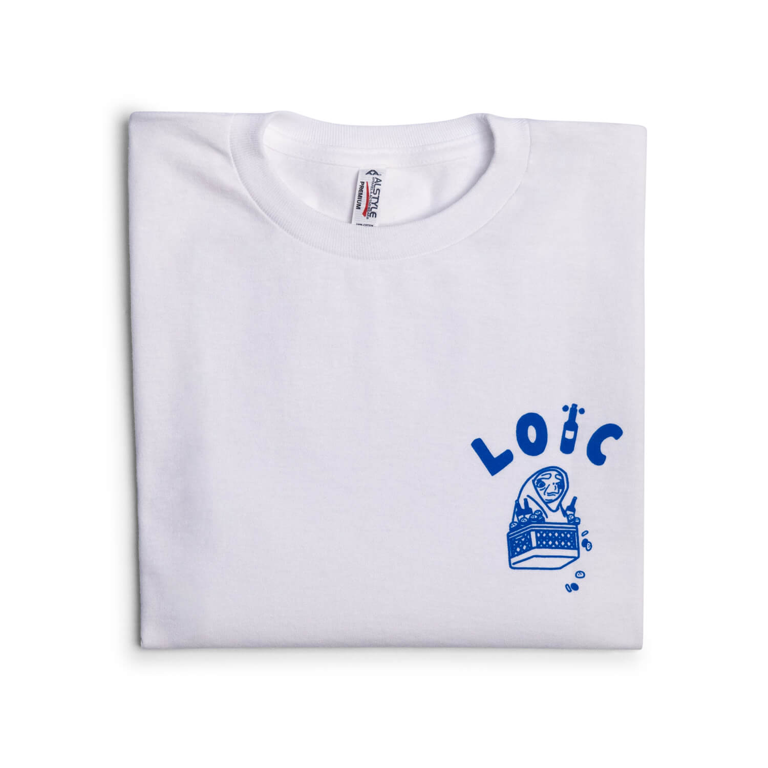 "Loïc ""Take Us Home"" T-Shirt (White/Blue)"