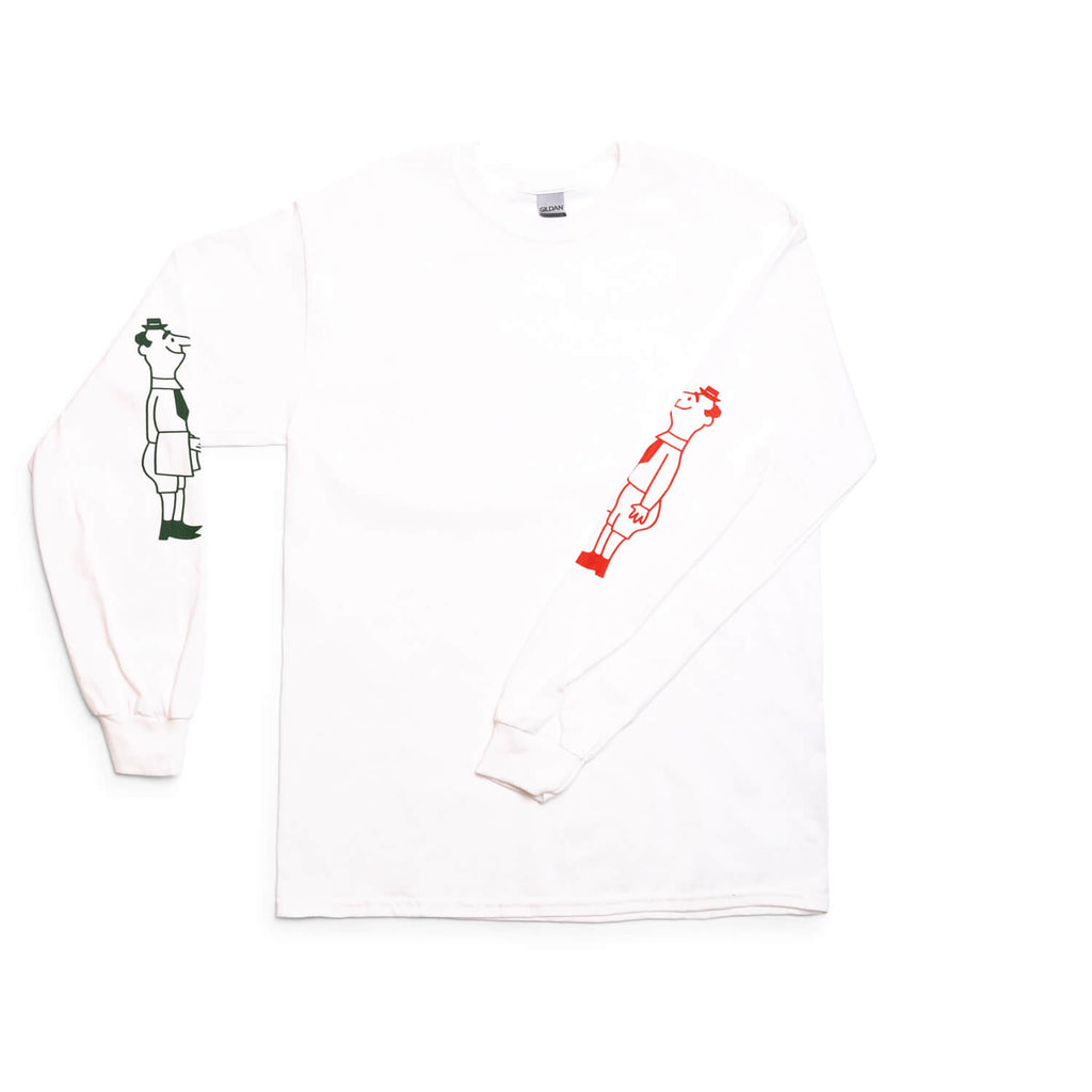 Mano Cornuto Longsleeve (White/Green/Red)