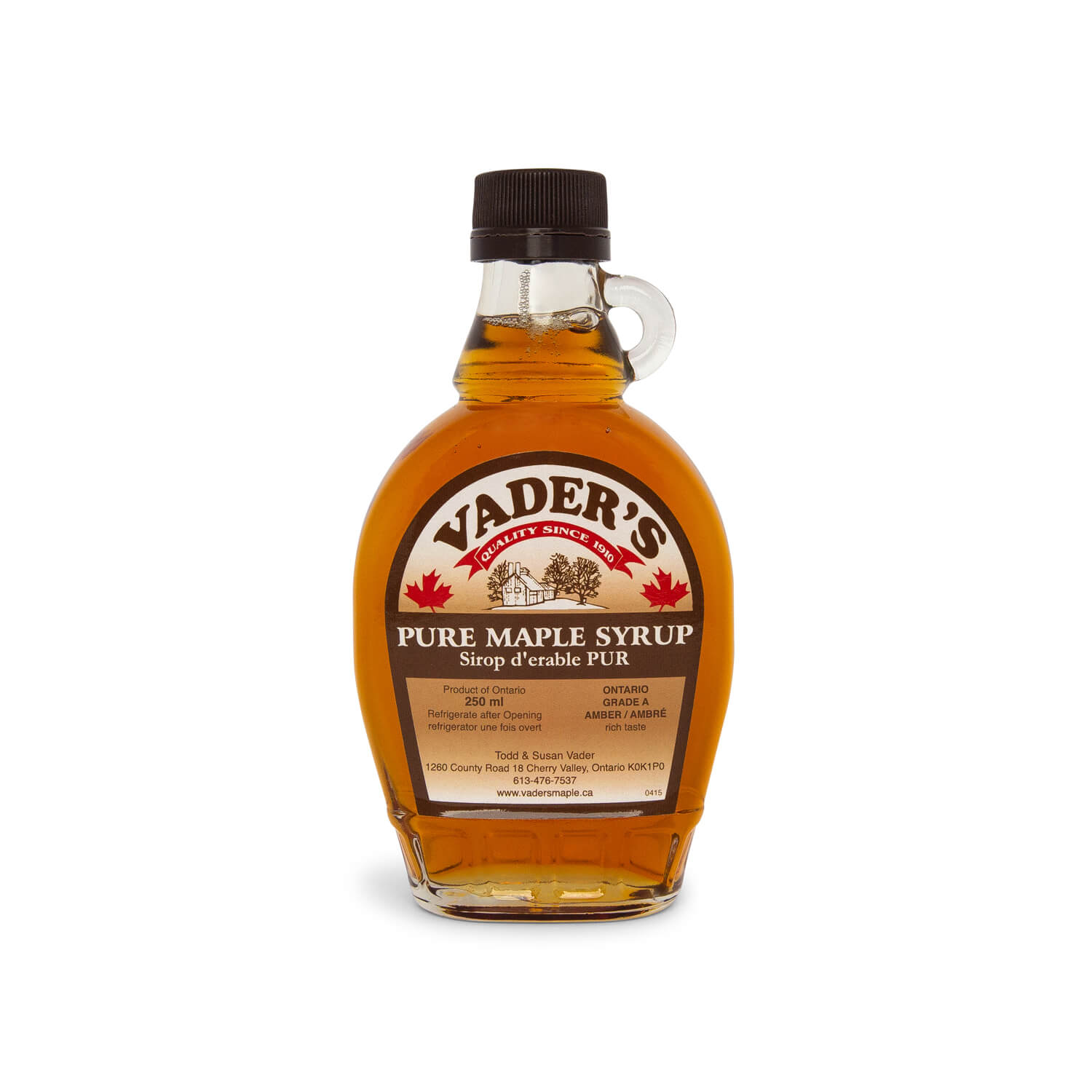 Vader's Amber Maple Syrup (250ml)
