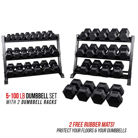 Dumbbell Set with Racks - RetroforReal