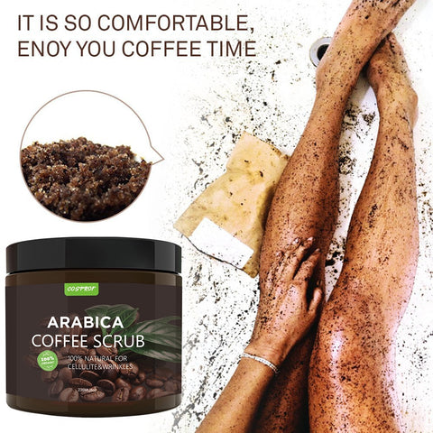 100% Natural Arabica Coffee Scrub with Organic Coffee, Coconut and Shea Butter - Best Acne, Anti Cellulite and Stretch Mark treatment, Spider Vein Therapy - RetroforReal