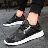 Fashion Men's  Sneakers Camouflage Shoes Zapatos de Hombre Breathable Casual Shoes - RetroforReal