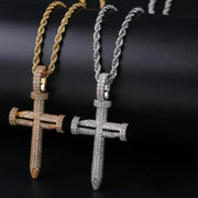 Thic Nail Cross Pendant - 18k Gold