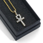 2 Piece Cross and Ankh Set - Gold