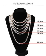 4mm/6mm Tennis Chain - 925 Silver
