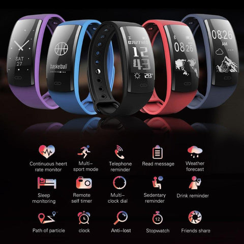 QS90 Heart Rate Bracelet Fitness Tracker