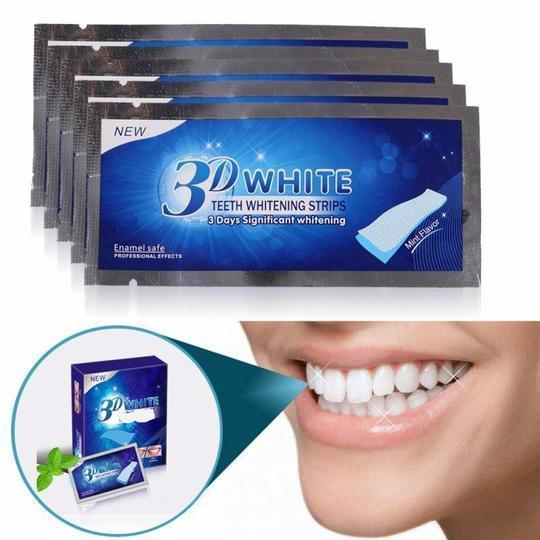 2 3D White Teeth Whitening Strips