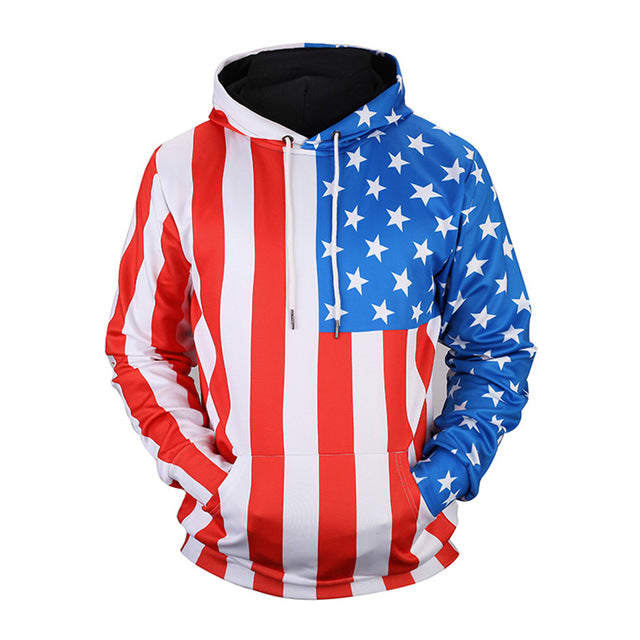 USA Flag Stars & Stripes Hoodie