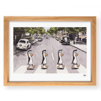"Wall Art ""Pingüinos Beatles"""