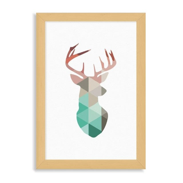 "Ilustración ""Deer in colors"""